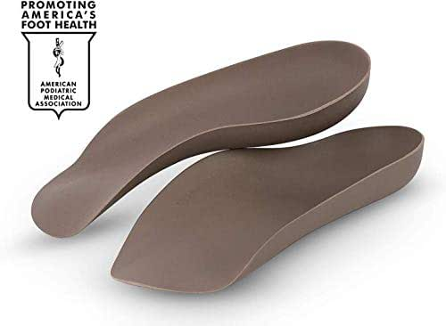 Custom Fit Moldable Orthotics & Plantar Fasciitis Inserts by Corefit - Dip in Hot Water & Fit to Foot. Medical Grade Flat & High Arch Support w Flat & High Arch Insoles. Firm 3/4 (Men 10/Womens 12)