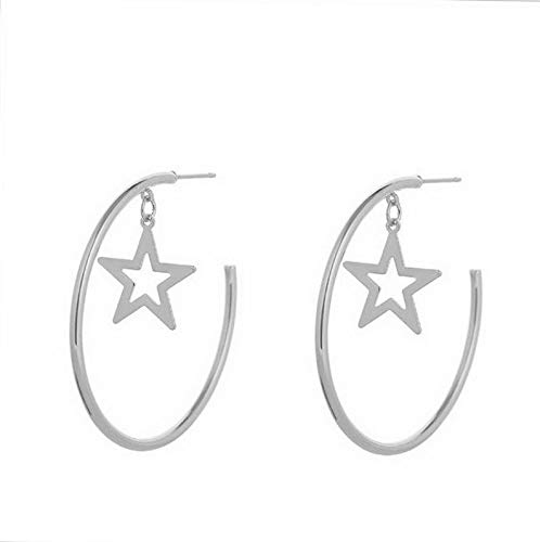 Monowi Boho Women Simple Geometric Circle Ear Stud Drop Dangle Earrings Fashion Designs | Model ERRNGS - 4688 |