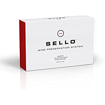Sello Wine Preservation System | Wine Preserver & Wine Pourer in One | Wine Saver with innovative technology actively regulates oxygen & moisture levels | Wine Stopper device + 24 cartridges