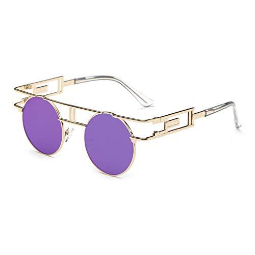 Gothic Men's Steampunk Round Sunglasses Women Vintage Sun -
