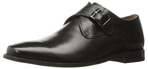 Florsheim Men's Montinaro Single Monk Dress Shoe Slip On , Black, 10 D US