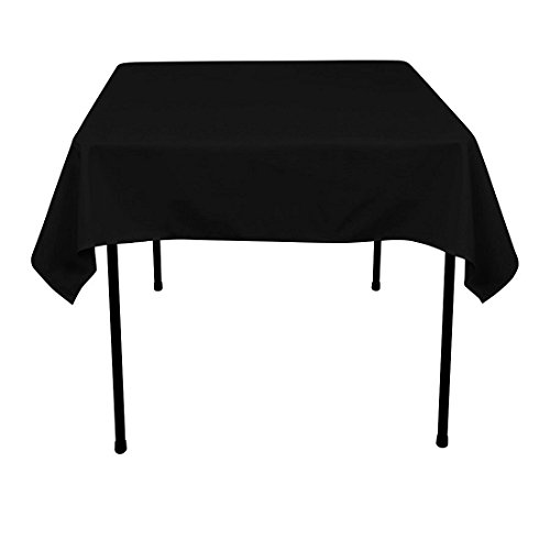 GFCC 54 x 54-Inch Seamless Black Rectangular Polyester Table