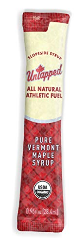 UnTapped Maple Syrup Athletic Fuel Maple, Box of 20 .96 FL OZ PACKETS (Maple Mini Syrup)