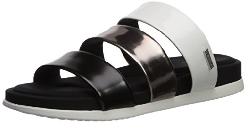 Calvin Klein Womens Dalana Slide Sandal Black/Pewter/White