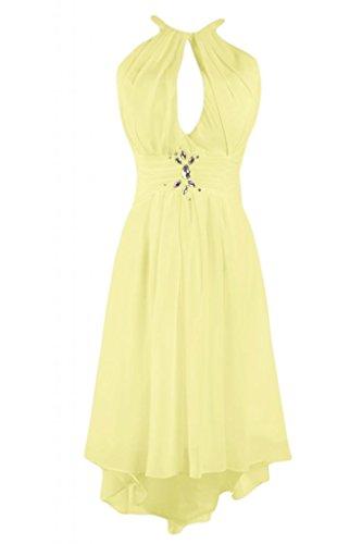 Cocktail elegante abito Gowns da Prom Homecoming per Sunvary Hi lo schiena Cartamodello Daffodil gWF8w