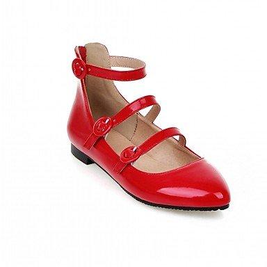 Cómodo y elegante soporte de zapatos de tacón para mujer primavera verano otoño invierno comodidad novedad pu piel sintética boda oficina y carrera partido y vestido de noche Casual Chunky talón rojo