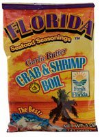 Florida Seafood Seasonings Crab & Shrimp Boil Garlic Butter 5 oz (2 Pack)