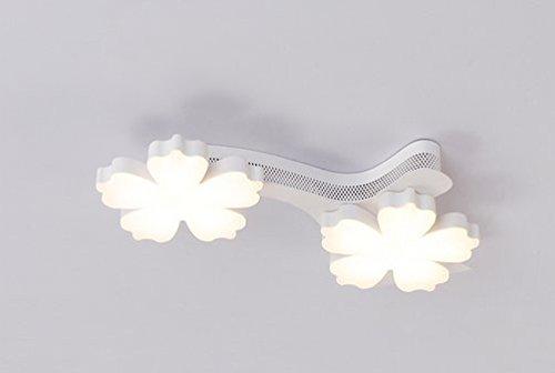 Bedroom lamp Warm Romantic Modern Minimalist Living Room led ceiling lamp Study Creative Art Plum lamp Trichromatic dimming (2 Head)