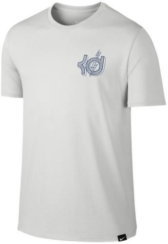 Nike Mens KD Kevin Durant Verbiage Athletic T-Shirt Grey Blue