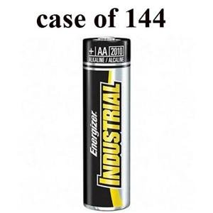 Energizer, case pack 144 AA Industrial (Catalog Category: Batteries / AA -