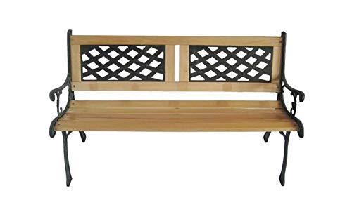 Strong Wooden 3 Seater Garden Outdoor Park Patio Bench Cast Iron Legs Beautiful Design UK Seller Generic