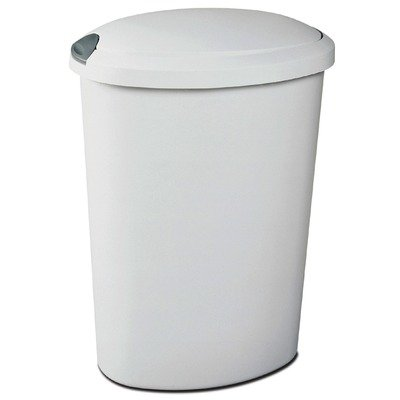 UPC 073149108586, 12.7 Gallon White Touch Top Wastebasket [Set of 4]