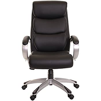 Amazon.com: TimeOffice High Back Office Leather Chair with Armrest ...