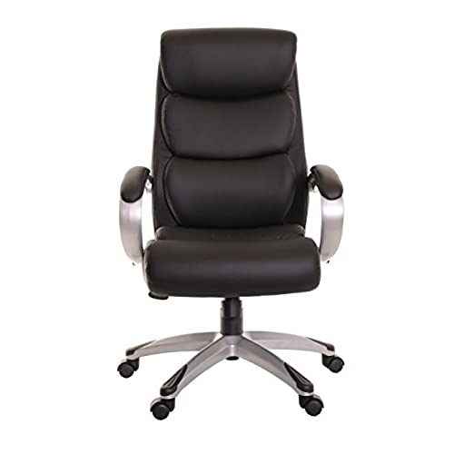 TimeOffice High Back Office Leather Chair With Armrest, Ergonomic Design  Office Chair PU Leather Executive Desk Office Swivel Chair With Lumbar Back  Support ...