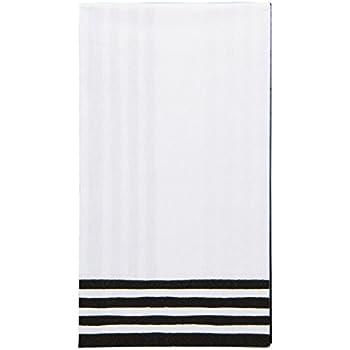 Amazoncom Entertaining with Caspari Stripe Border Guest Towels