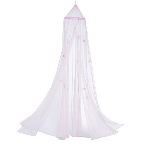 fly Motif Childrens Girls Pink Hanging Bed Canopy by Gifts & Decor ()