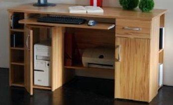Schreibtisch Computertisch Pc Tisch Kernbuche Bv Vertrieb Bürotisch