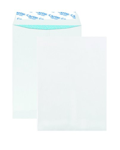 Catalog Grip Seal Envelopes - Columbian CO926 9x12-Inch Catalog Grip-Seal Security Tinted White Envelopes, 100 Count