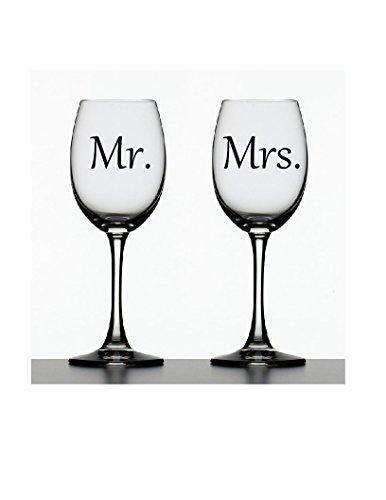 Mr. & Mrs. Decals ~ Set of 2 Decals ~ 2.5