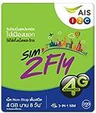 【お急ぎ便】AIS アジア14カ国 周遊プリペイドSIM 4GB 8日間 4G・3Gデータ通信通信無制限 / 韓国 台湾 香港 シンガポール マカオ マレーシア フィリピン インド カンボジア ラオス ミャンマー オーストラリア ネパール  ※日本でも利用可能
