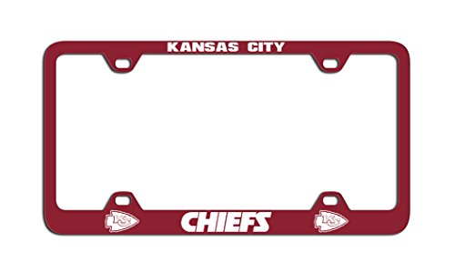 NFL Kansas City Chiefs Laser License Plate Frame, Red
