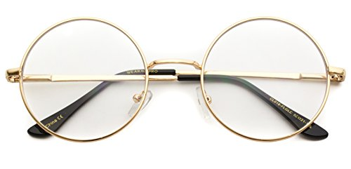 Glasses Round (Round Clear Metal Frame Glasses)