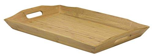- Home Basics Bamboo Serving Tray with Handles, Natural