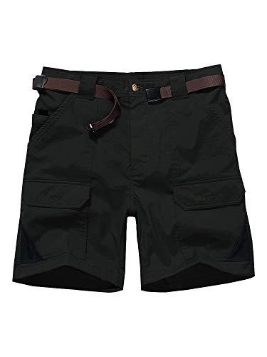 Men's Casual Shorts, Expandable Waist Lightweight Cargo Hiking Summer Shorts - Pants Mens Casual Short