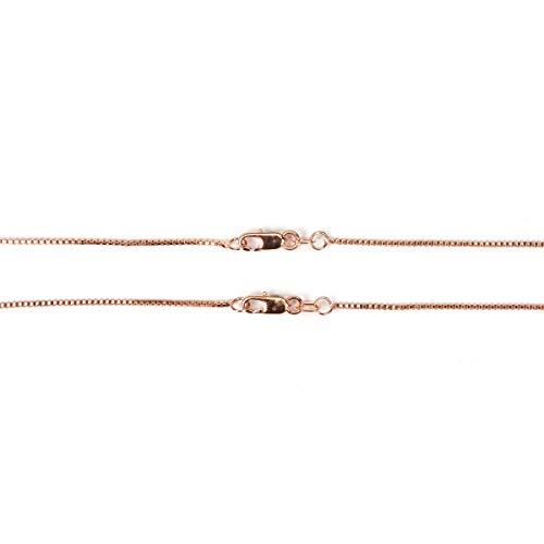 Diseñador de joyas rg1033cadena veneciana oro rosa 1.05mm 18en 2piezas