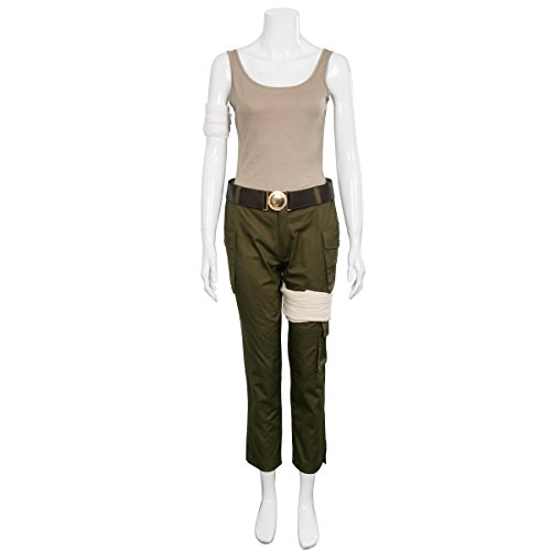 Partyever Womens 2018 Lara Costume Outfit Deluxe Halloween Cosplay Suit (Small) -
