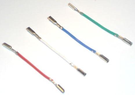 Tocadiscos cartucho Headshell cables de conexión RCA conectores