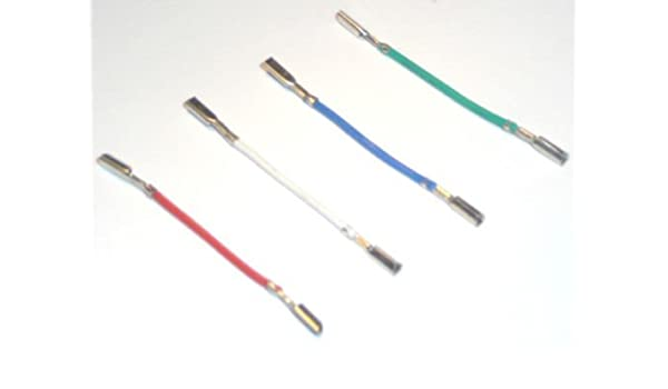 Tocadiscos cartucho Headshell cables de conexión RCA conectores ...
