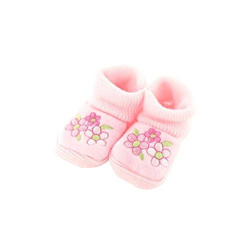 Babyschuhe 0-3 Monate pink - Trio Muster Blumen