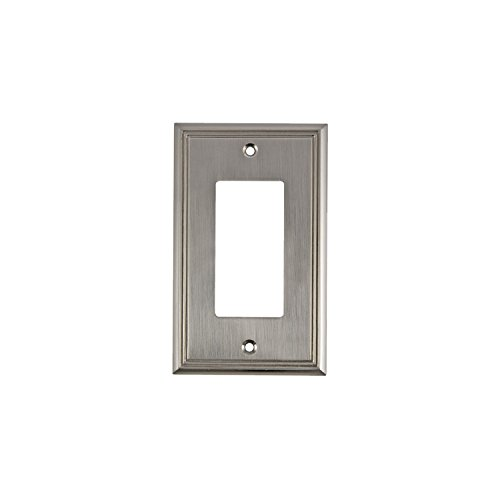 - Rok Hardware Wall Plate Contemporary Decorative Rocker/GFCI Switch Plate (Brushed Nickel, 1 Gang)