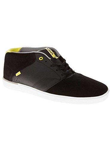 Vans Heren Lxvi Secant Mid Top Sneakers Zwart Limoen