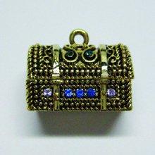 Jolee's Boutique Treasure Chest Box Gold Multi Pendant