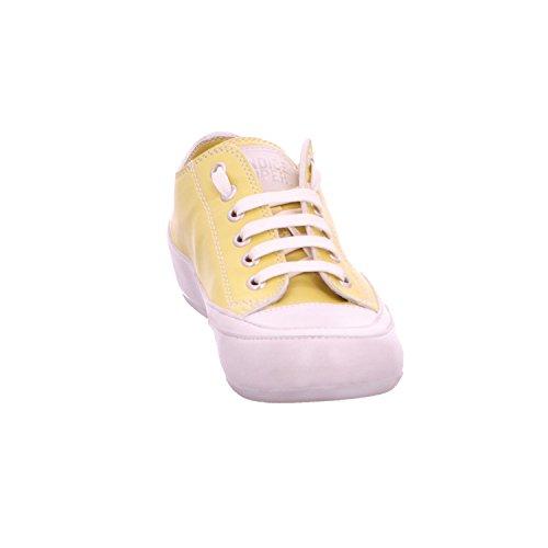 Candice Cooper Rock 01 Zafferano (gelb) Tamponato (kalbleder) Base Panna Damen Sneaker Zafferano (gelb)