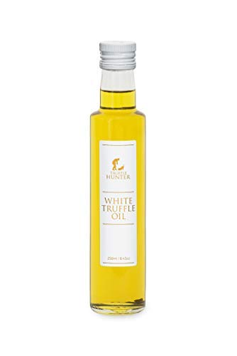 TruffleHunter White Truffle Oil [Double Concentrated] (8.45 Oz) - Made with Extra Virgin Olive Oil Salad Dressing Gourmet Food Condiments - Kosher, Vegan, Vegetarian, Gluten Free, Non-GMO and No MSG