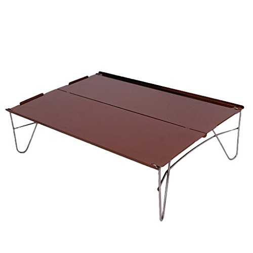 Light Pique 1 - MagiDeal Portable Mini Ultra-Light Aluminum Folding Camping Table Fits Picnic Outdoor Barbecue 1-People Use