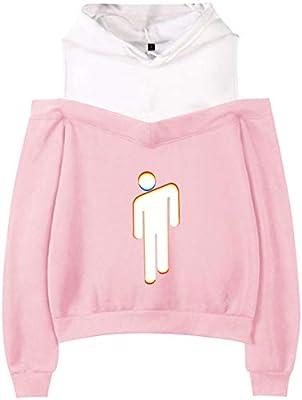 Billie Eilish Hoodie Sweater for Womens L Pink