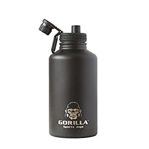 Gorilla Sports Jug 1/2 Gallon , Insulated Water bottle