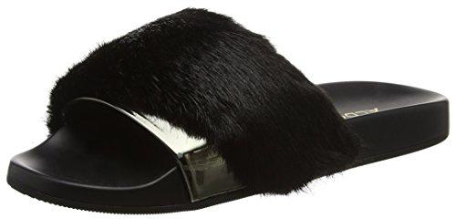 Gotta Aldo Noir Black Femme Bout Ouvert Sandales 7qrZqd0