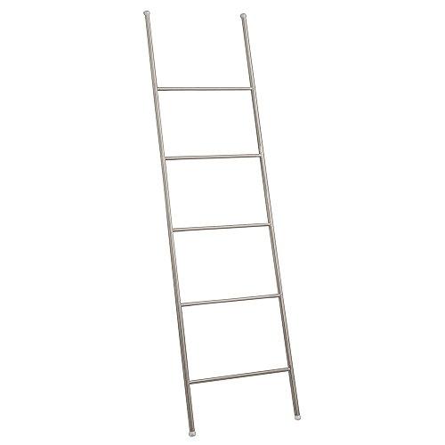 InterDesign Forma Free Standing Bath Towel Organizer Holder-Ladder Design, Satin ()