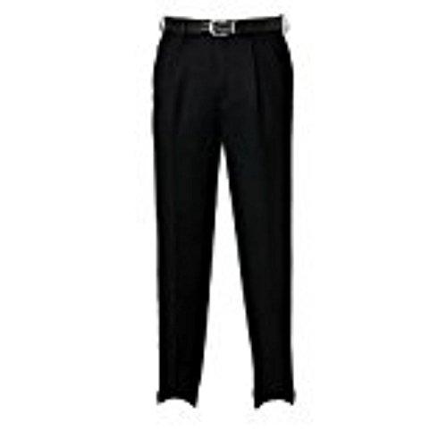Savane Microfiber Pants - Savane Men Microfiber Dress Pants (32x30, Black)