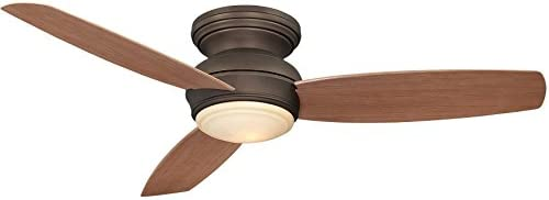 Minka-Aire 52 FLUSH MOUNT CEILING FAN, Oil-Rubbed Bronze LED Light