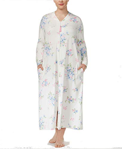 - Charter Club Long Cotton Robe, Fall Floral, Large