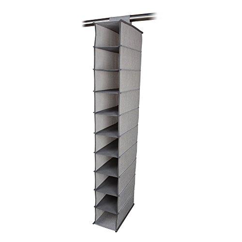 10 Shelf Hanging Shoe Closet Storage Organizer with Velcro Attachement