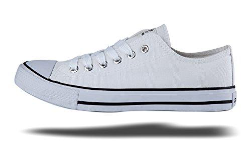 Shinmax Lowcut Hitops Tygskor Unisex Duk Sneaker- Säsong Spets Ups Skor Tillfälliga Tränare För Män Och Kvinnor Vita Lowcut