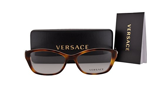 Versace VE3236 Eyeglasses 52-16-140 Havana w/Demo Clear Lens 5217 VE - Italy Sunglasses West