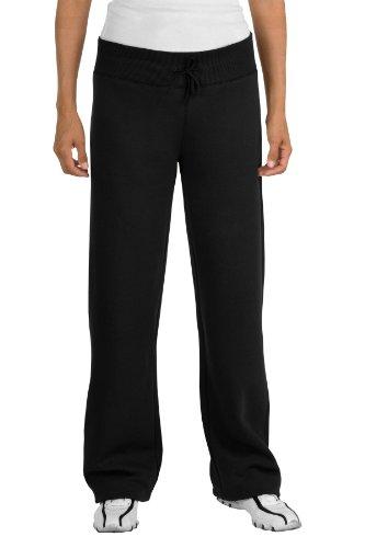 Sport-Tek Ladies Fleece Pant, Black, XX-Large